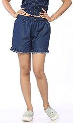 Abony Women's Blue Denim Short (Size:M)