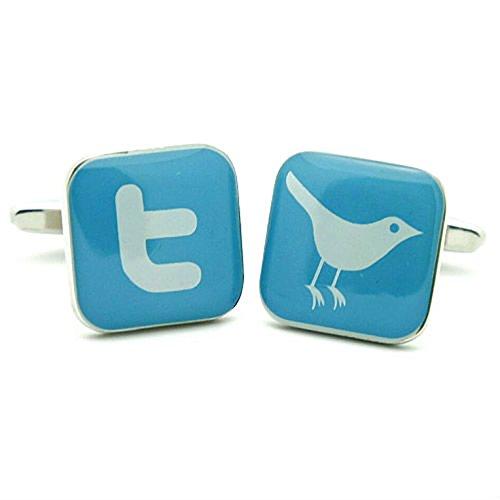 Twitter Logo Cufflinks