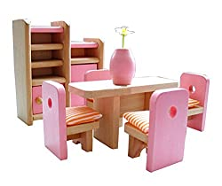 Cute Kids Play House Toys Set Wooden Assembling Furniture Toys Indoor Outdoor