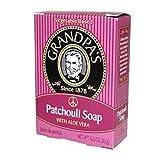 Grandpas Patchouli Bar Soap With Aloe Vera 3.25 Oz