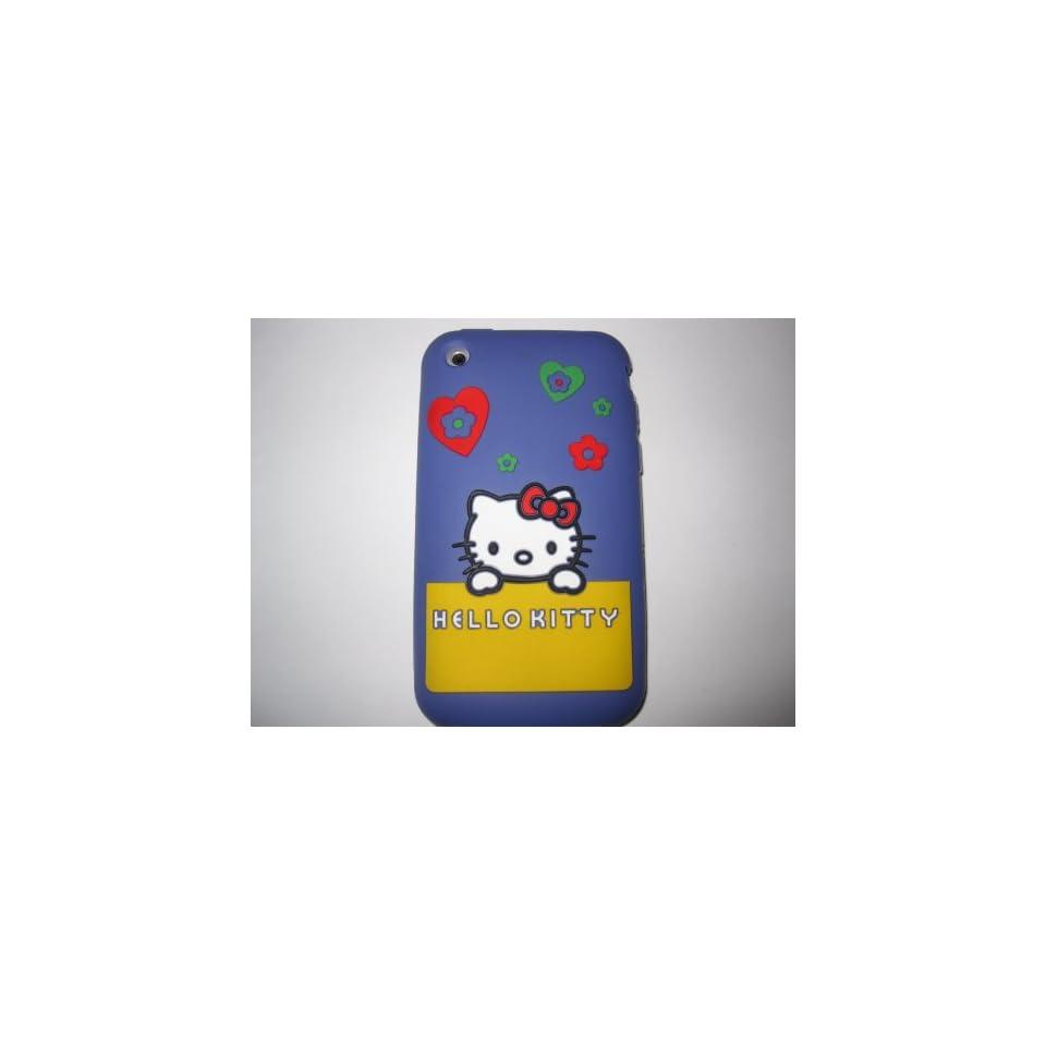 I Phone 3G 3GS light weight Shirt Pocket Hello Kitty Silicone Case / Skin Purple