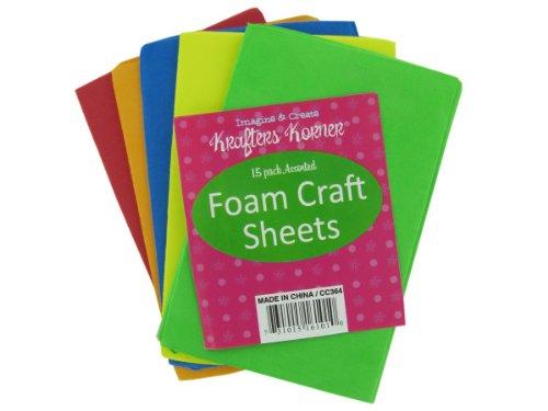 Foam Craft Sheets - Case of 96