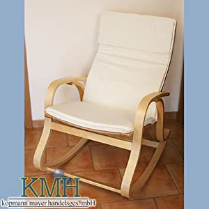 schaukelstuhl weisser bezug relaxstuhl relaxsessel. Black Bedroom Furniture Sets. Home Design Ideas