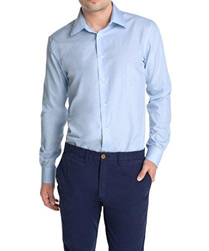 ESPRIT Collection - 995Eo2F901, Camicia formale da uomo,  manica lunga, collo classico, blu(blau (clear blue 444)), taglia produttore: 41-42