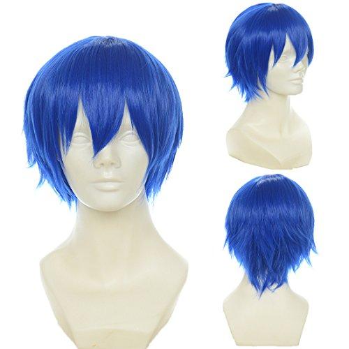 Cfalaicos Short Vocaloid-kaito Blue Anime Cosplay Wig