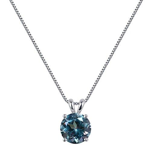[ジュエリーキャッスル] Jewelry Castle ネックレス 2カラット シンセティック アレキサンドライト 一粒ネックレス 6月 誕生石