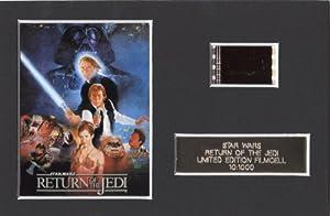 Star wars THE RETURN OF THE JEDI Limited Edition Movie Memorabilia Film Cell + coa