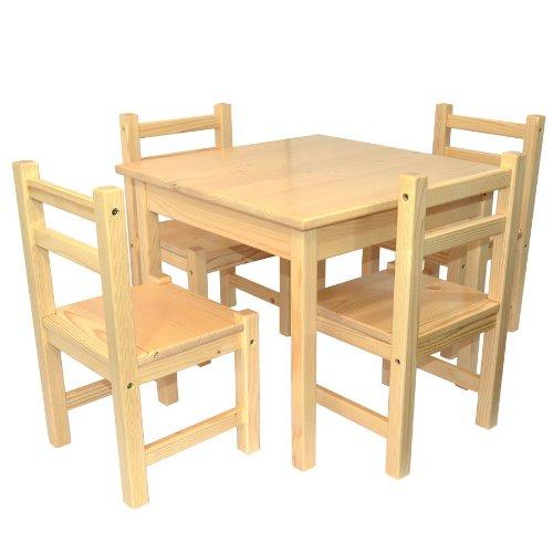 Consigue muebles para ni os de pino s lido natural for Muebles infantiles mesas y sillas