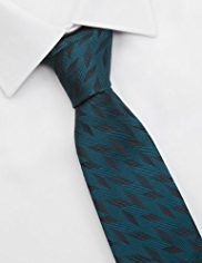 Autograph Made in Italy Pure Silk Textured Striped Tie