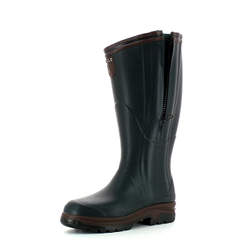 Aigle Parcours 2 Iso Open Wellies - Bronze Green Size 44