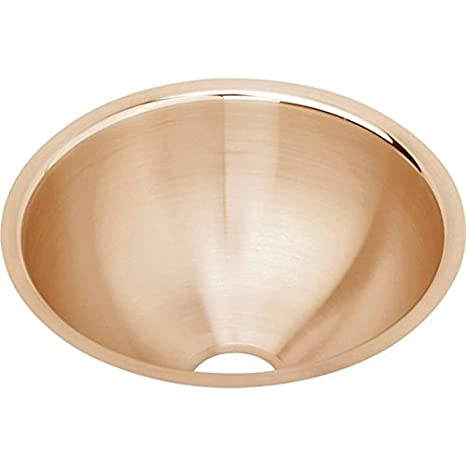 Elkao|#Elkay ELUH9-CU 18 Gauge Cuverro Antimicrobial copper 11.375 Inch x 4.75 Inch single Bowl Undermount Bathroom Sink,