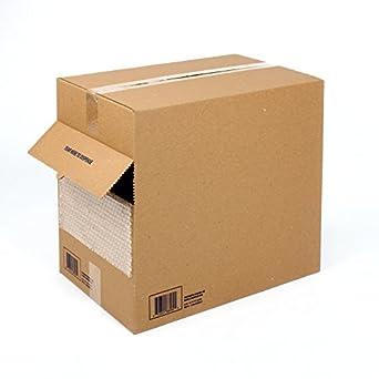 "Pratt Polyethylene Perforated UPSable Economy Air Bubble Dispenser Box, HPS12, 175' Length x 12"" Width, 3/16"" Thick, Clear"