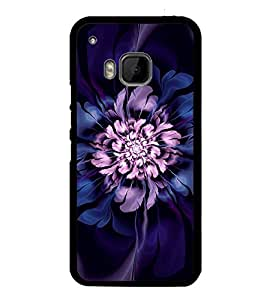 Purple Flower 2D Hard Polycarbonate Designer Back Case Cover for HTC One M9 :: HTC One M9S :: HTC M9 :: HTC One Hima