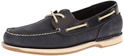Rockport Men\'s Ports Of Call Perth Boating Shoe,Navy Leather/Nubuck,9 N US