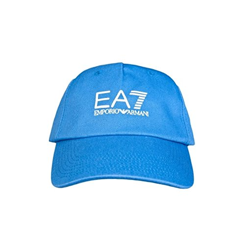 Emporio Armani EA7 cappello berretto regolabile uomo in cotone originale core blu EU M 275365 5A297 10433