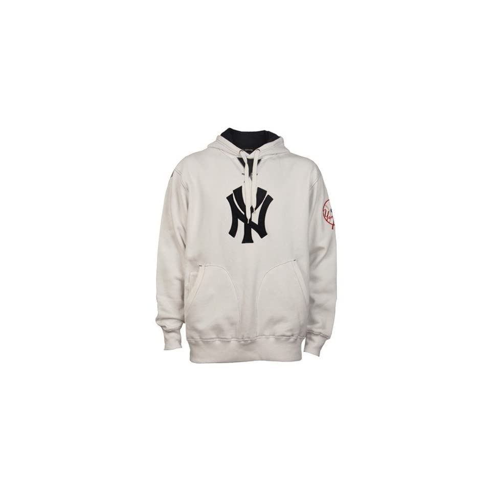 size 40 f4413 4abf6 Majestic New York Yankees White Cooperstown Vintage Hoody ...