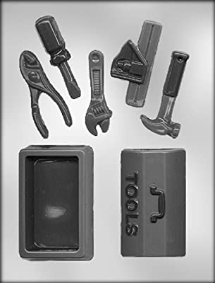 CK Products 3-D Tool Box with 5 Tools Chocolate Mold