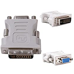 Storite DVI-I Dual Link Male 24+5pin to 15 pin VGA Female Adapter for Dual Monitor Display