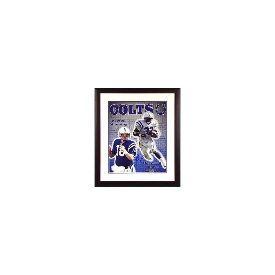 Peyton Manning Edgerrin James Signed 16x20 Framed on PopScreen 55cb064ee