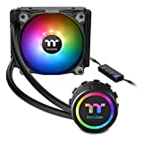 Thermaltake Water 3.0 ARGB Motherboard Sync Edition Intel/AMD 120 All-in-One Liquid Cooling System 120mm High Efficiency Radiator CPU Cooler CL-W232-PL12SW-A (Tamaño: 120mm)