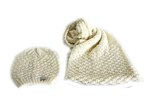 Set cappello e sciarpa ad anello Gian Marco Venturi 61524 bianco