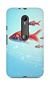 Amez designer printed 3d premium high quality back case cover for Moto G Turbo Edition (Pure Simple Underwater Goldfish Swimming)