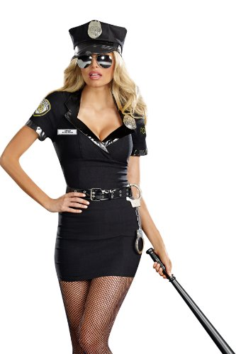 Dreamgirl Women's Sexy Police Costume, Dirty Cop Officer Anita Bribe