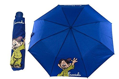 Ombrello mini automatico SETTE NANI CUCCIOLO DISNEY blu ragazza antivento Q353