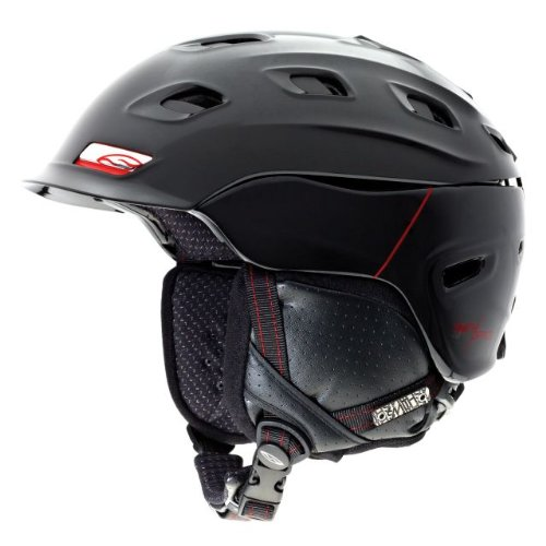 Smith Optics Vantage Helmet, Small, Black, Red Truetype