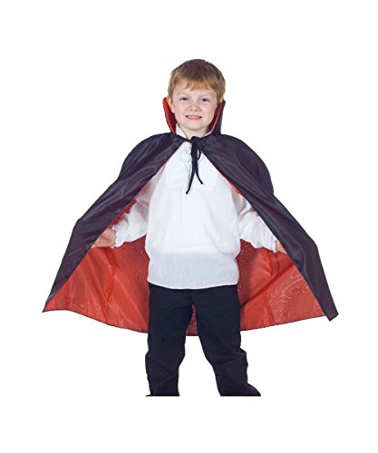Reversible Red and Black Cape for Children