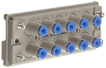 SMC KDM10S-04 Socket-Side-Only of PBT Multi-Connector for Tubing, 4 mm Tube OD, 10 Connecting Tubes