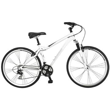 Schwinn Men's Network 3.0 700C Hybrid Bicycle, White, 18-Inch