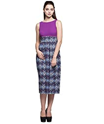 Tryfa Women's Dress (TFDRMI0000168-L-L_Purple_Large)
