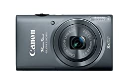 Canon PowerShot ELPH 130 IS 16.0 MP Digital Camera with 8x Optical Zoom 28mm Wide-Angle Lens and 720p HD Video Recording (Gray) (OLD MODEL)