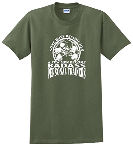 Created Equal, A Few Men Become Personal Trainers T-Shirt Medium Military Green