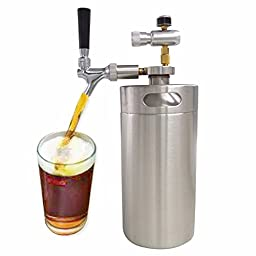 Premium Spear Beer with Touch Tap with CO2 Injector 3.6L Keg Beer Growler
