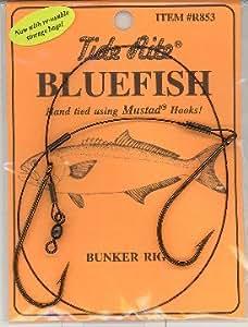 Bluefish bunker rig 6 packs mustad hooks for Blue fish rig