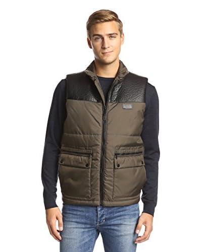 Sean John Men's Tonal Full Zip Vest
