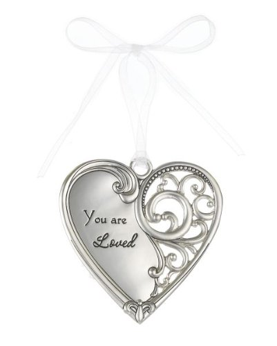 """You Are Loved"" Always In My Heart Filigree Ornament"