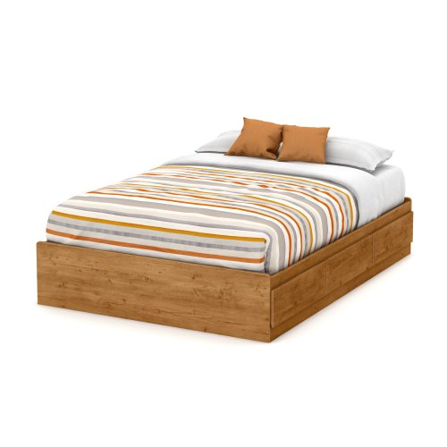 South Shore Little Treasures Full Mates Bed with 3 Drawers, 54-Inch, Country Pine (Full Captains Bed compare prices)