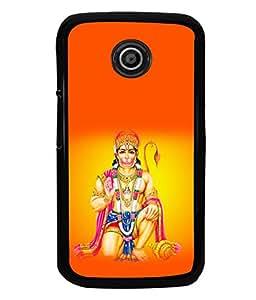 printtech Lord God Hanuman Back Case Cover for Motorola Moto E XT1021::Motorola Moto E (1st Gen)