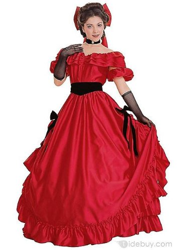 Red Southern Belle Costume for Women M