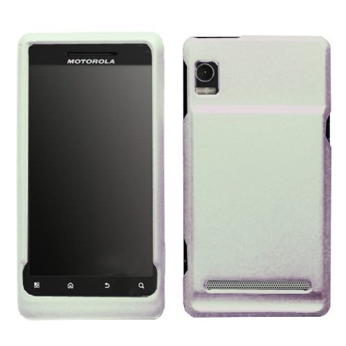 Rubberized Case White for Droid 2