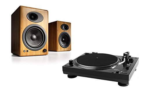 Music-Hall-USB-1-Turntable-Package-With-Pair-of-Audioengine-A5-Bookshelf-Speakers-Bamboo