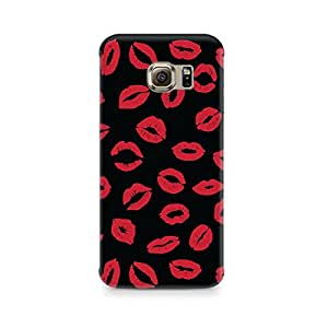 Ebby Red On Black Premium Printed Case For Samsung S6 Edge Plus