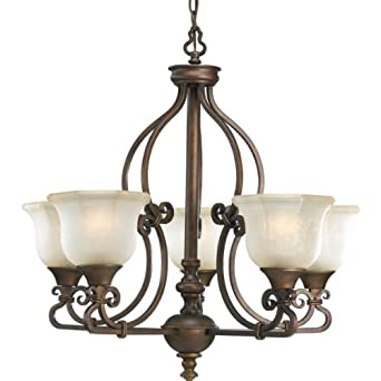 Progress Lighting P4584-102 5-Light Guildhall Chandelier, Roasted Java