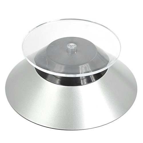 Bluecell 2 Pcs Silver Color Cone Shape Rotating Mini Display Stand for Model and other Small Stuff (Mini Cone Display compare prices)