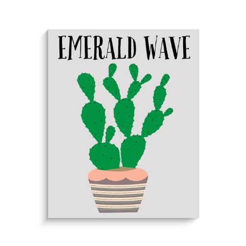 "Lucy Darling Emerald Wave Print Wall Decor, 11""x 14"""