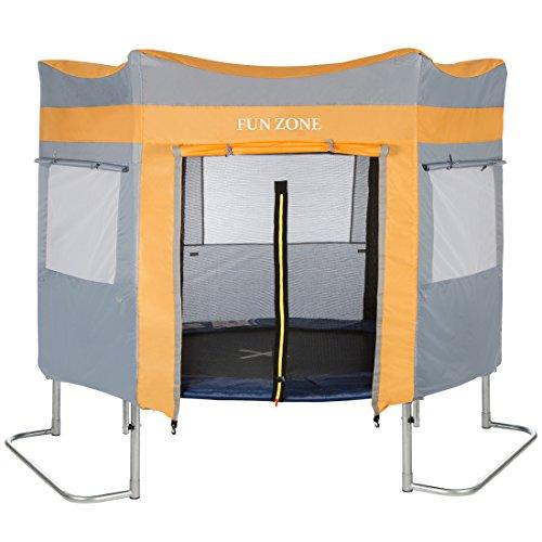 Ultrasport - Tienda de juego (para cama elástica de jardín Ultrasport Jumper, 180 cm), azul y rosa