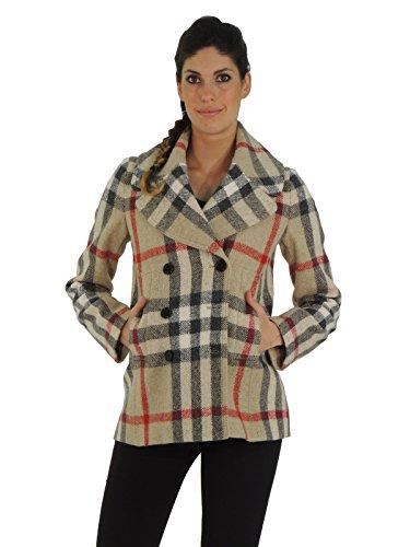 Burberry cappotto donna modello british slim fit 3701646 (XS, BEIGE)